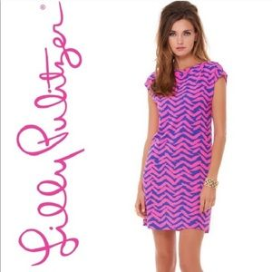 Lilly Pulitzer Pink And Blue Robyn Dress